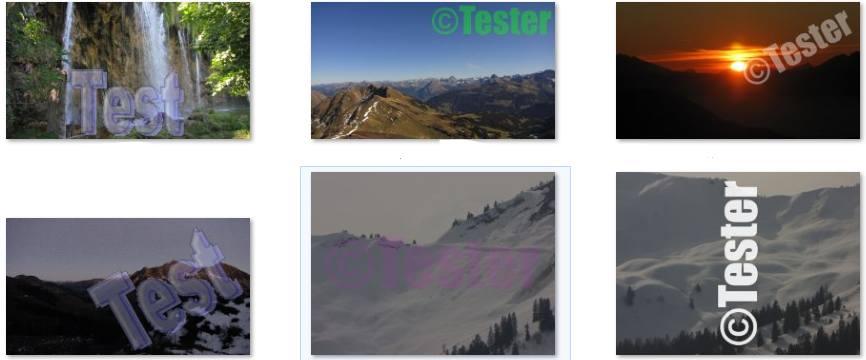 Beispielbilder mit Wasserzeichen